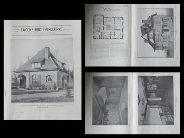 LA CONSTRUCTION MODERNE - n°38 - 1929 - LILLE, PROUVOST-CREPY, CHARLES BOURGEOIS
