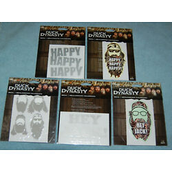 Duck Dynasty Decal Lot (Set Of 5), New & Factory Sealed