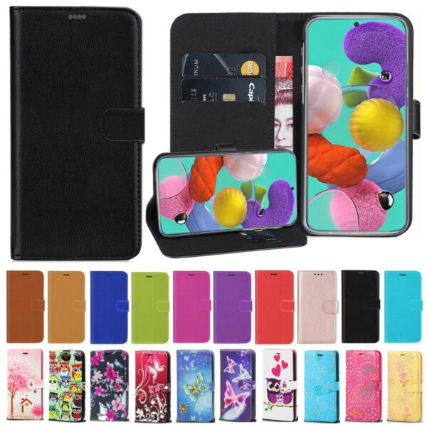 For Samsung A10 A40 A50 A20e A70 Phone Case Real Leather Flip Wallet Book Cover