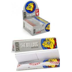 The Bulldog Amsterdam Silver Rolling Papers & Filter Tips 24 pcs Per Box
