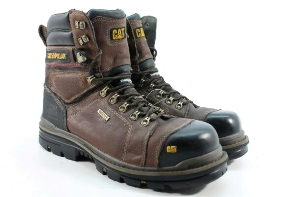 CAT 8'' Hauler CTCP Men's Dark Brown Work Boots Wide UK 11/ EU 45/ 3133