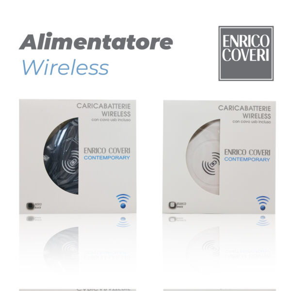CARICATORE WIRELESS CARICABATTERIE BASE SAMSUNG IPHONE HUAWEI ENRICO COVERI BIAN