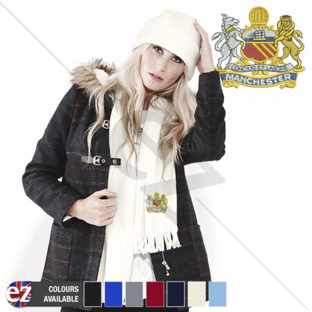 img-Manchester Regiment - Scarf - With Embroidered Badge