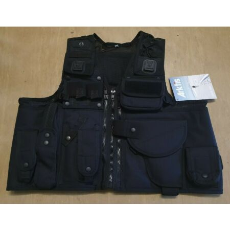 img-NEW Arktis Ex Police Issue Tactical Black Tactical Baton Taser Tactical Vest UK