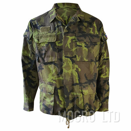 img-Genuine Czech Field Jacket Coat Woodland Camo