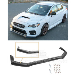 Kyпить For 18-Up Subaru WRX STi CS Style PRIMER BLACK Front Bumper Lower Lip Splitter на еВаy.соm