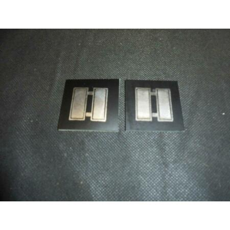 img-Pair of US Air Force/Army Military Captains A2 Jacket Leather Rank Badges