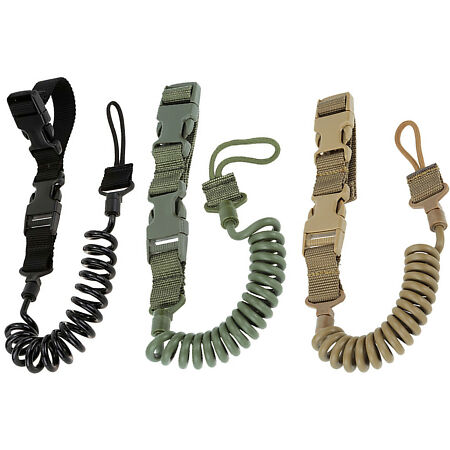 img-Army Tactical Gun Pistol Lanyard Sling Strap Gear Belt Bungee Hunting Military