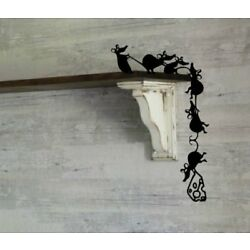 Adorable Cheese Thieves Climbing Mice Whimsical Vinyl Wall Decal Sticker Rat USA