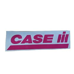 Pink Case IH Vinyl Decal 1.5  X 5.75  Farming Decal Tractor Decal