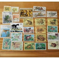 Kyпить World Wide Postage Stamp Lot - 25 Different Frogs And Toads на еВаy.соm