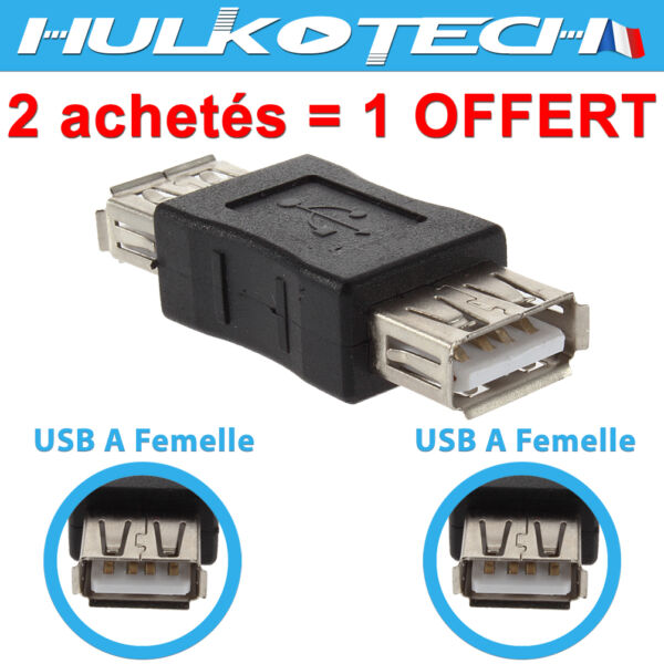 Toulouse,FranceUSB 2.0 Type A  to  Coupler Adapter Connector F/F Cable Converter