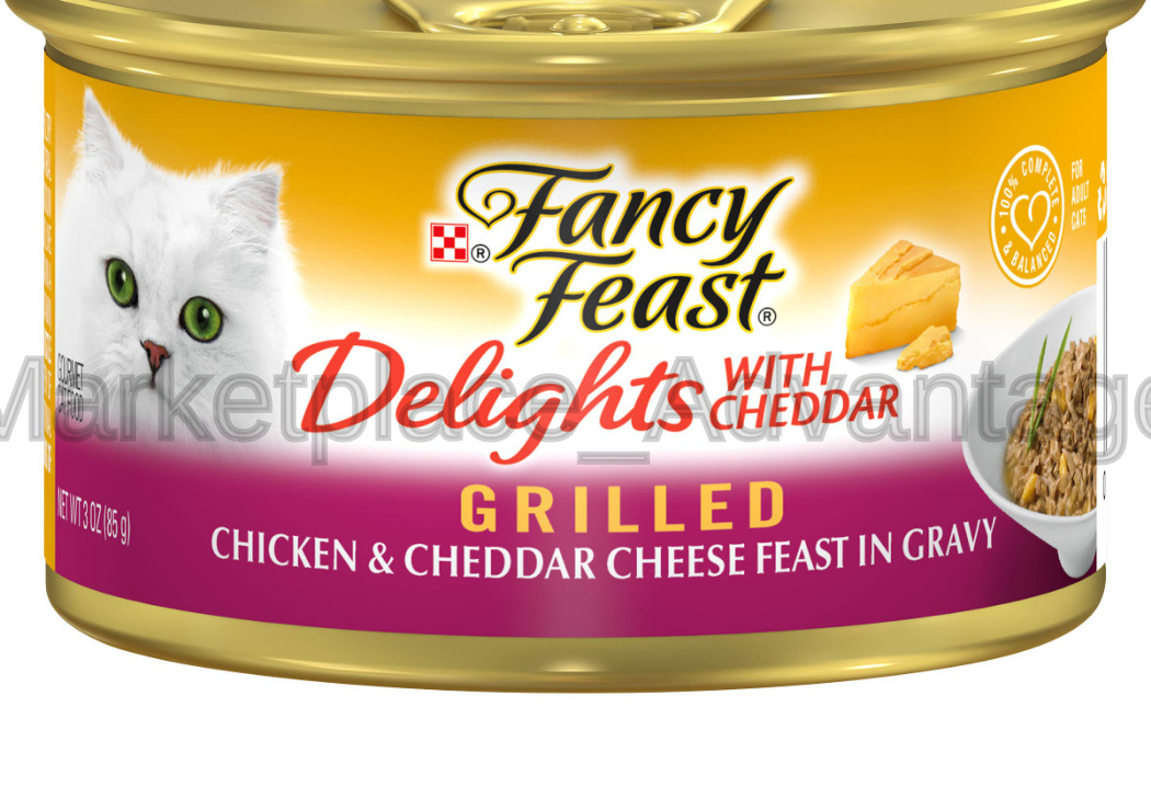 Purina Fancy Feast Grilled Feast In Gravy Canned Wet Cat Food Chicken & Cheddar