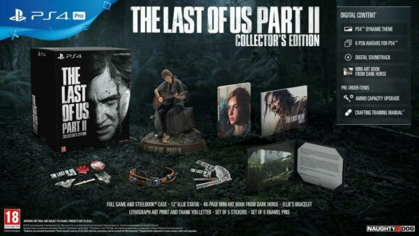THE LAST OF US PART 2 COLLECTOR'S EDITION PS4 NUOVO IMPORT CON ITALIANO LIMITED