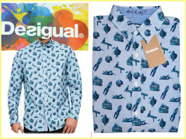 EspagneDESIGUAL Shirt man L XL or 2XL In Shop 80 € Here for Much Less! DE18 L-1