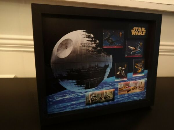 6 NEW 2019 STAR WARS VEHICAL STAMPS BY THE R/M FRAMED,WOULD MAKE A GREAT GIFT