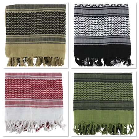 img-Lightweight Army Shemagh (Arab Scarf) Multi Colours Survival Concealment