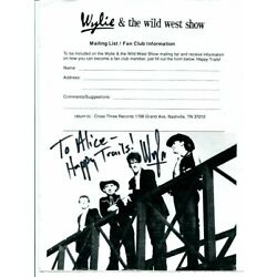 WYLIE & THE WILD WEST SHOW signed AUTOGRAPH 3822