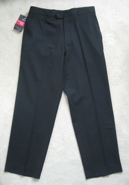 M&S Tailoring Navy or Chocolate Smart Pin stripe Formal Trousers(NEW)-Diff Sizes
