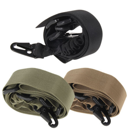 img-Adjustable Tactical Two 2 Dual Point Bungee Rifle Gun Sling System Strap Belt #