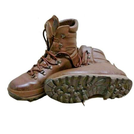 img-BRITISH ARMY ISSUE BROWN ALT-BERG BOOTS - ALL SIZES - COMBAT BOOTS - GRADE 1