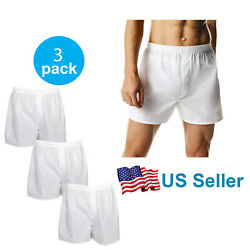 Kyпить 4-12 PACK Men's White Boxer Shorts W/ Comfortable Flex Waistband Cotton Blend на еВаy.соm