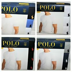 Kyпить Polo Ralph Lauren White Classic Fit Three 3 Pack Cotton Crew Neck Tee Shirt $42 на еВаy.соm