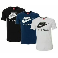 Kyпить Nike Men's Air Max T-Shirt Graphic Dry Fit Swoosh Logo Athletic Active Wear Gym  на еВаy.соm