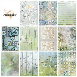 Kyпить Rabbitgoo Home Window Film Privacy Static Cling Stained Glass Film 17.5