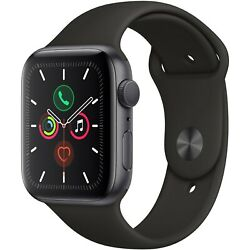 Kyпить Apple Watch Series 5 44mm Space Gray Aluminum Case Black Sport Band MWVF2LL/A на еВаy.соm