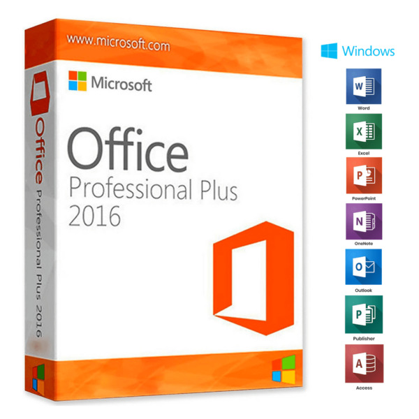 MICROSOFT OFFICE 2016 PROFESSIONAL PLUS 32/64 BIT CODICE ORIGINALE ESD LICENZA