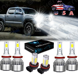 Kyпить For Toyota Tacoma 2016 2017 2018 2019 6000K LED Headlight + Fog Light Bulbs 6X на еВаy.соm