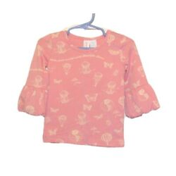Matilda Jane SKY VIEW PUFFER TEE Size 12 TOP Pink Paint by Numbers Air Balloons