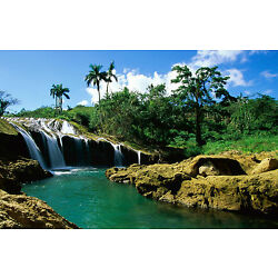 Framed Print - Amazon Rainforest Waterfall (Picture Poster Landscape Art River)