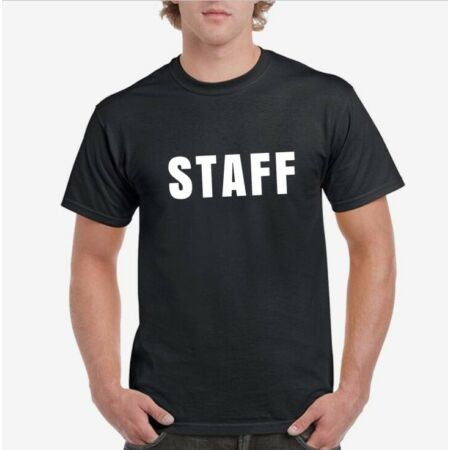 img-STAFF, SECURITY, BOSS, MANAGER, CREW, DOORMAN PRINTED T-SHIRT