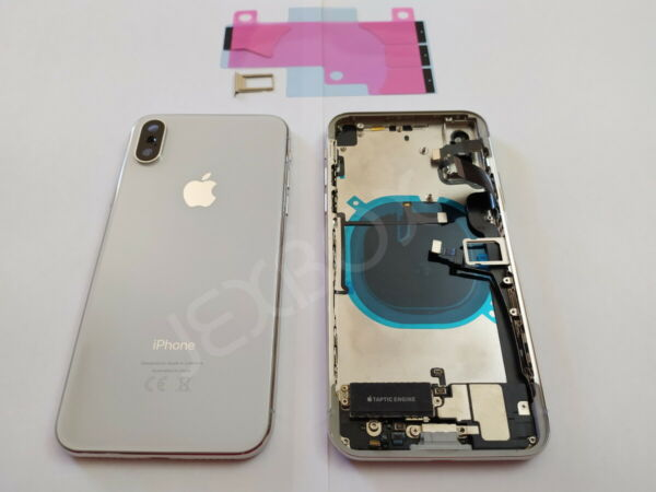 Back Cover Housing Scocca Posteriore + flex/tasti Completa iPhone X Bianco White