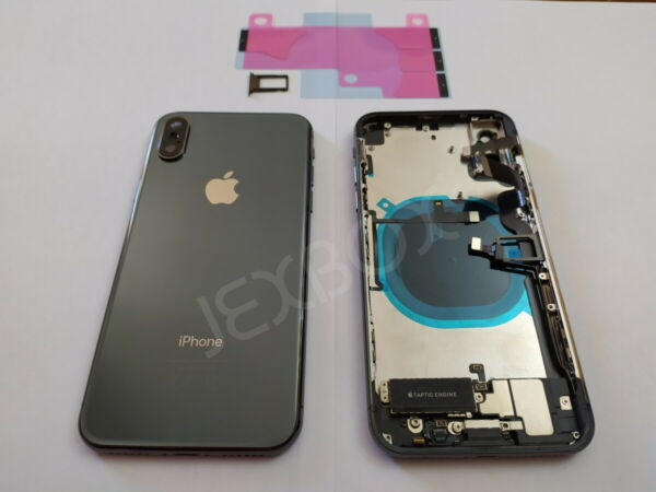 Back Cover Housing Scocca Posteriore + flex/tasti Completa iPhone X Nero Black