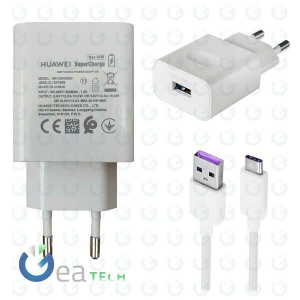 Huawei CaricaBatterie SUPERCHARGE 40W CP84 + Cavo Type-C FAST 5A ORIGINALE Bulk