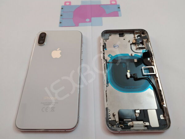 Back Cover Housing Scocca Posteriore + flex/tasti Completa iPhone XS Bianco