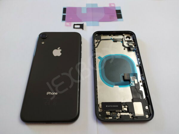 Back Cover Housing Scocca Posteriore + flex/tasti Completa iPhone XR Nero Black