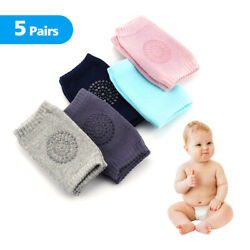 Kyпить 5 Pairs Kid Baby Crawling Knee Pads Safety Anti-slip Walking Leg Elbow Protector на еВаy.соm