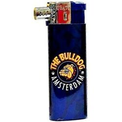 THE BULLDOG AMSTERDAM COMPANY BLUE LOGO OFFICIAL ELECTRONIC GAS PIPE LIGHTER