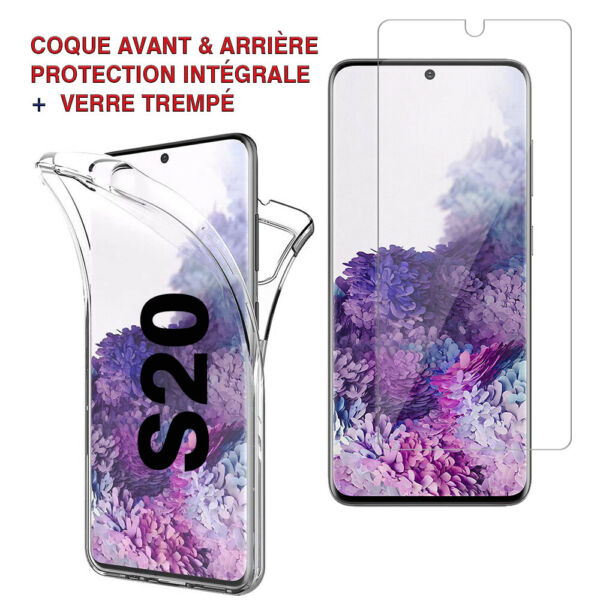 Compiègne,FranceCoque Housse 360° Clear FULL TPU Gel  Samsung Galaxy S20/ S20 5G 6.2
