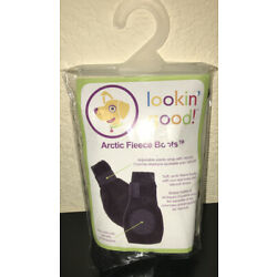 Fashion Pet Arctic Fleece Boots for Dogs Small Black