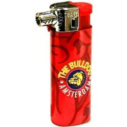 THE BULLDOG AMSTERDAM COMPANY RED LOGO OFFICIAL ELECTRONIC GAS PIPE LIGHTER