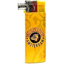 THE BULLDOG AMSTERDAM COMPANY YELLOW LOGO OFFICIAL ELECTRONIC GAS PIPE LIGHTER