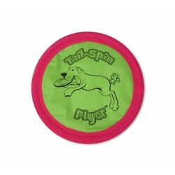 Dog's Disc Tail-Spin Flyer 10 in Soft Frisbee/ Rubber Tubing Durable Lightweight