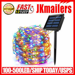 Kyпить 100-500 LED Solar Power String Fairy Lights Garden Outdoor Party Christmas Lamp на еВаy.соm