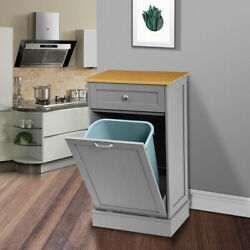 Kitchen Trash Storage Cabinet Can Tilt Out Free Standing Bamboo Cutting Board
