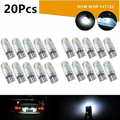 20X 6000K Canbus T10 168 194 W5W Dome License Side Marker LED Light Bulb White